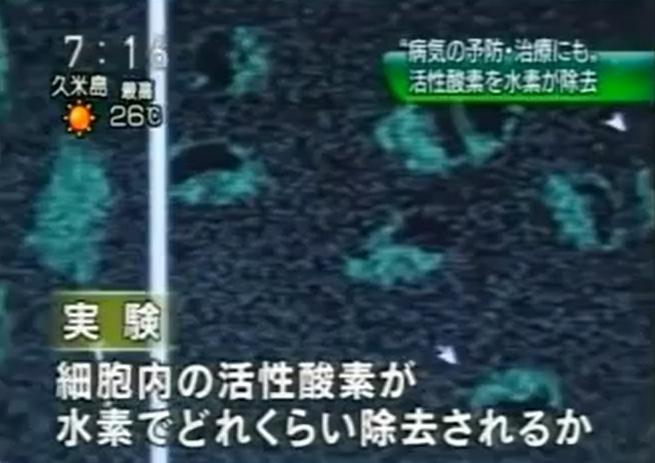 おはよう日本-NHK 活性酸素がどのくらい除去できるか実験