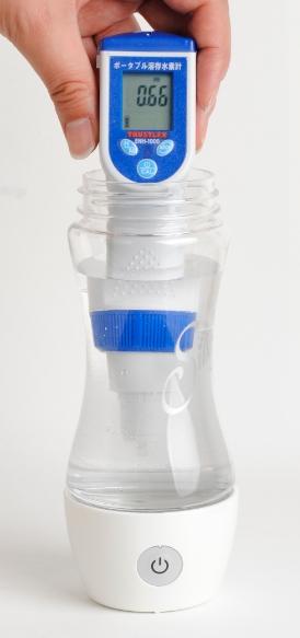 携帯型水素水生成器シルキー濃度測定